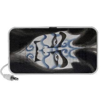 Cool oriental classic kabuki deamon makeup art travelling speakers