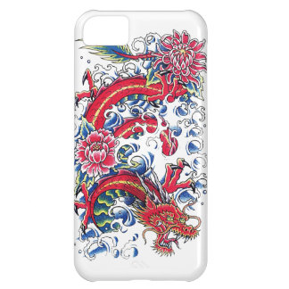 Cool Oriental Dragon Lotus Flower tattoo art iPhone 5C Cover