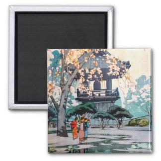 Cool oriental Hiroshi Yoshida Japanese Shrine art Magnet