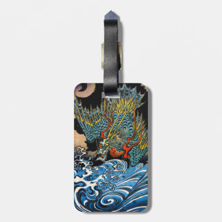 Cool oriental japanese Ancient Legendary Dragon Luggage Tag