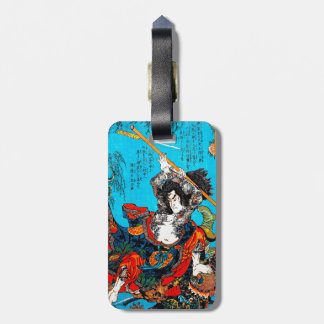 Cool oriental japanese Ancient Samurai Warrior Jo Luggage Tag