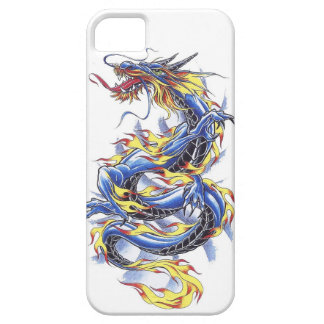 Cool Oriental Japanese Blue Dragon tatttoo iPhone 5 Covers