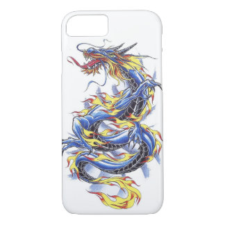 Cool Oriental Japanese Blue Dragon tatttoo iPhone 8/7 Case