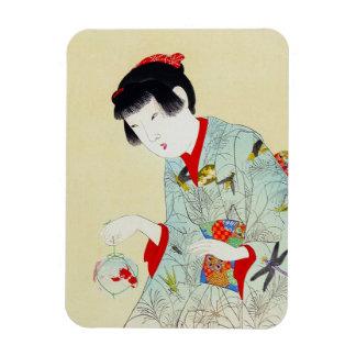 Cool oriental japanese classic geisha lady art magnet