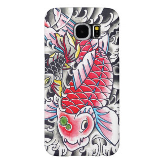 Cool Oriental Japanese Classic Ink red Koi Fish Samsung Galaxy S6 Cases