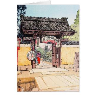 Cool oriental japanese classic Little Templa Gate Card