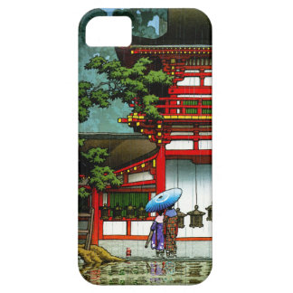 Cool oriental japanese classic temple rain art iPhone 5 covers