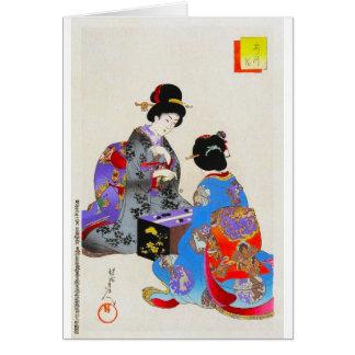Cool oriental japanese classic two geisha art ukio card