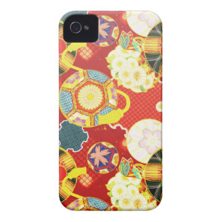 Cool oriental japanese colourful pattern Case-Mate iPhone 4 case