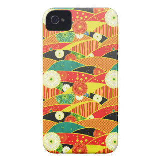 Cool oriental japanese colourful pattern iPhone 4 Case-Mate cases