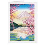 Cool oriental japanese Fuji spring cherry tree art