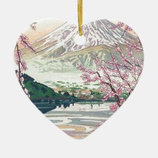 Cool Oriental Japanese Fuji Spring Cherry Tree Art Ceramic Ornament
