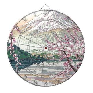 Cool Oriental Japanese Fuji Spring Cherry Tree Art Dartboard