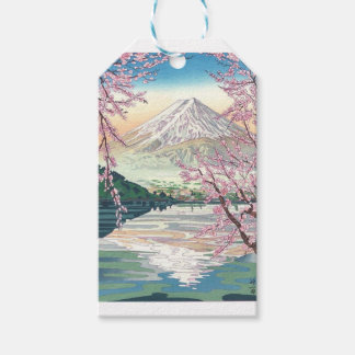 Cool Oriental Japanese Fuji Spring Cherry Tree Art Gift Tags