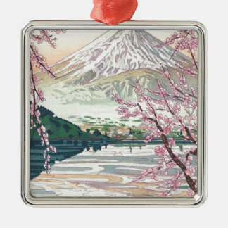 Cool Oriental Japanese Fuji Spring Cherry Tree Art Metal Ornament