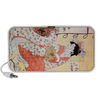 Cool Oriental Japanese Geisha Fan art Mp3 Speaker