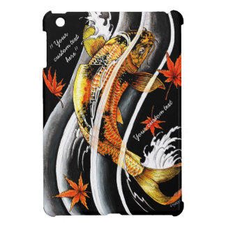 Cool oriental japanese Gold Lucky Koi Fish tattoo Case For The iPad Mini