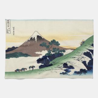 Cool oriental japanese Hokusai Fuji View landscape Kitchen Towel