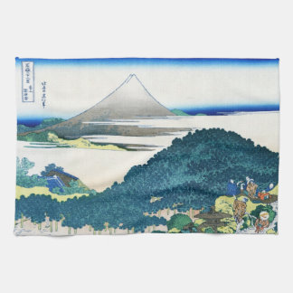 Cool oriental japanese Hokusai Fuji View landscape Kitchen Towel