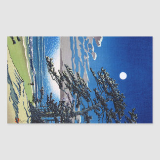 Cool oriental japanese moonlight night scenery sticker