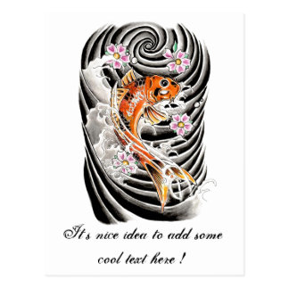 Choose red koi tattoos if red suit to your skin tone for Orange koi fish meaning