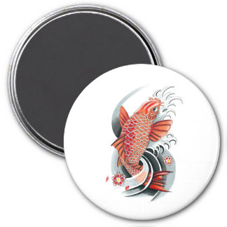 Cool Oriental Japanese Red Koi Carp Fish tattoo Magnet
