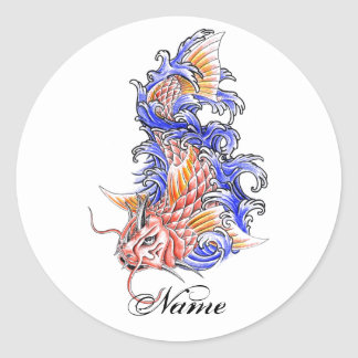 Koi fish tattoo stickers koi fish tattoo custom sticker for Cool koi fish