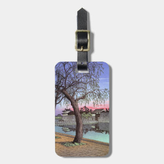 Cool oriental japanese Sunset Glow at Otemon Luggage Tag