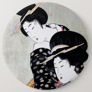 Cool Oriental Japanese Traditional Geisha art 6 Inch Round Button