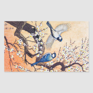 Cool oriental japanese Yoshida birds cherry tree Sticker