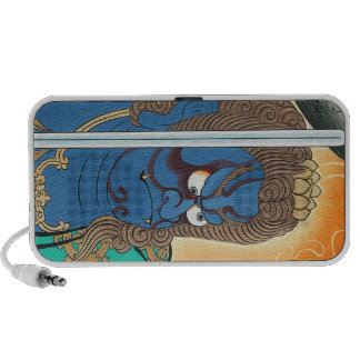 Cool oriental kabuki makeup warrior samurai art speaker system