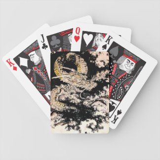 Cool oriental Legendary Ancient Chinese Dragon ink Bicycle Playing Cards