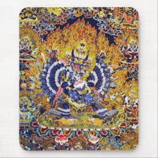 Cool oriental tangka Yamantaka death god tattoo Mouse Pad