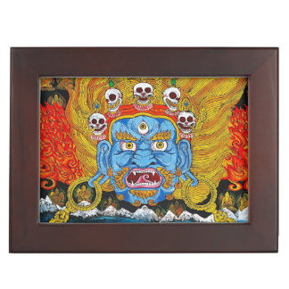 Cool oriental tibetan thangka demon tattoo art memory box