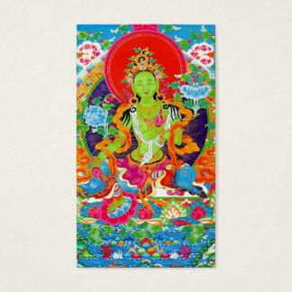 Cool oriental tibetan thangka god tattoo art business card