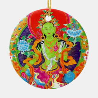 Cool oriental tibetan thangka god tattoo art ceramic ornament