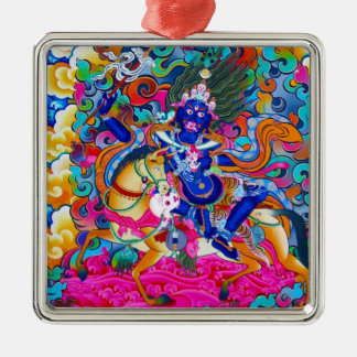 Cool oriental tibetan thangka tattoo Palden Lhamo Metal Ornament