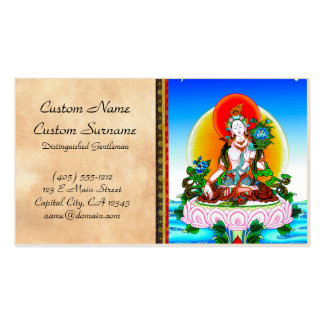 Cool oriental tibetan thangka White Tara tattoo Pack Of Standard Business Cards