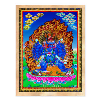 Cool oriental tibetan thangka Yamantaka tattoo Postcard