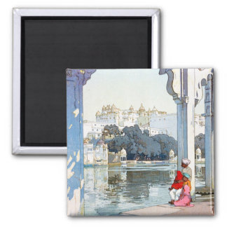 Cool oriental Yoshida Hiroshi udaipur Palace art Magnet