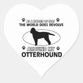 cool OTTERHOUND designs Heart Sticker