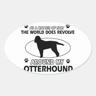 cool OTTERHOUND designs Oval Sticker