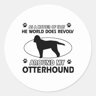 cool OTTERHOUND designs Round Sticker