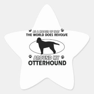 cool OTTERHOUND designs Star Sticker