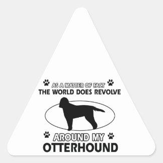 cool OTTERHOUND designs Triangle Sticker