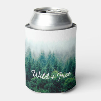 Cool Outdoor Landscape Forest Wild and Free Can Cooler