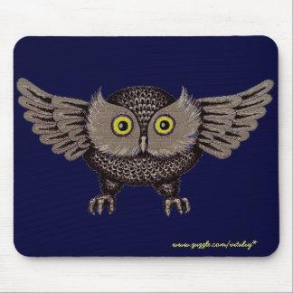 Cool owl graphic art mousepad design