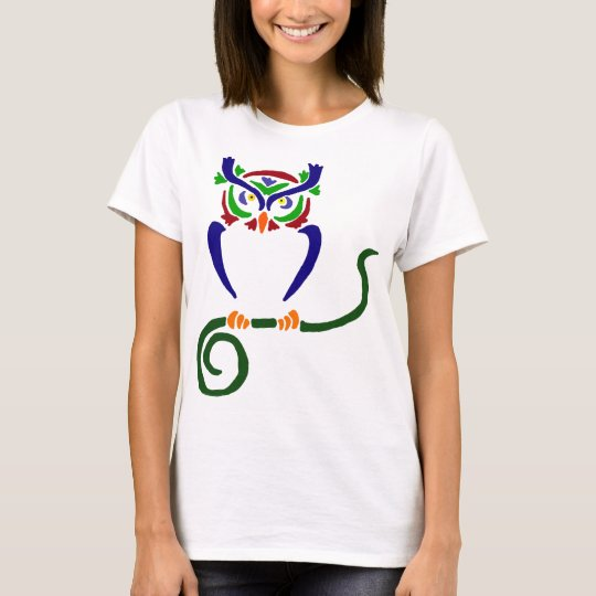 Cool Owl Sitting On Tree T-Shirt