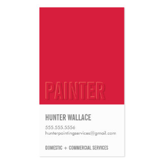 COOL PAINT CHIP swatch embossed look type red Business Cards