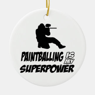Cool Paintball designs Ceramic Ornament